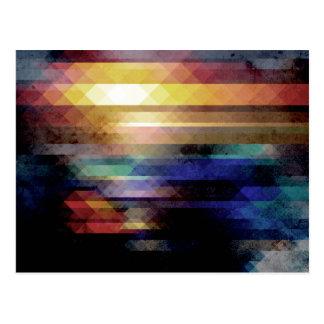 La géométrie abstraite de couleurs carte postale