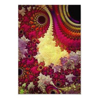 la géométrie abstraite extraordinaire de fractale carton d'invitation 8,89 cm x 12,70 cm