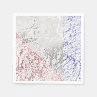 La géométrie de marbre de gris de marine d'or de serviette en papier