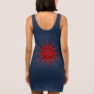 La géométrie de scintillement robe sans manche