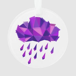 La géométrie pourpre de contemporain de pluie