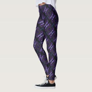 La géométrie pourpre leggings
