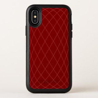 La géométrie rouge-foncé