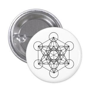 La géométrie sacrée de cube en Metatron Badge
