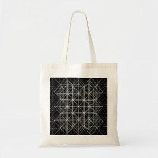 La géométrie sacrée de temple en cristal sac fourre-tout