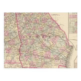 La Géorgie, Alabama Carte Postale