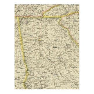 La Géorgie, Tennessee, Alabama Carte Postale