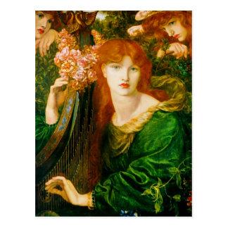 La Ghirlandata par Dante Gabriel Rossetti Cartes Postales
