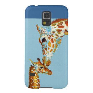 la girafe Samsung de mère téléphonent le cas Coques Pour Galaxy S5