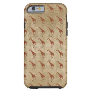 La girafe vintage modèle le cas de l'iPhone 6 Coque iPhone 6 Tough