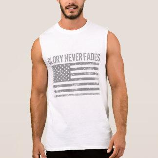 La gloire patriotique fraîche ne se fane jamais et t-shirt sans manches