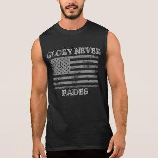 La gloire patriotique ne se fane jamais t-shirt sans manches