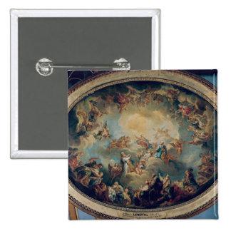 La glorification de la Vierge, 1731 Badge Carré 5 Cm