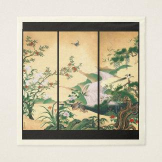 La glycine asiatique de colombes fleurit les serviette jetable