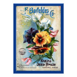 La graine de fleur emballe l'art vintage