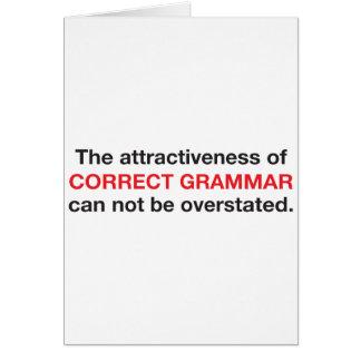 La grammaire correcte est attrayante ! carte de vœux
