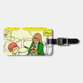 La grand-maman 903 vérifie la bande dessinée étiquettes bagages