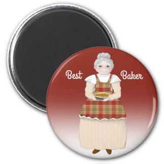La grand-maman est meilleur Baker Aimant