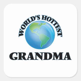 La grand-maman la plus chaude du monde sticker carré