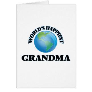 La grand-maman la plus heureuse du monde carte de vœux
