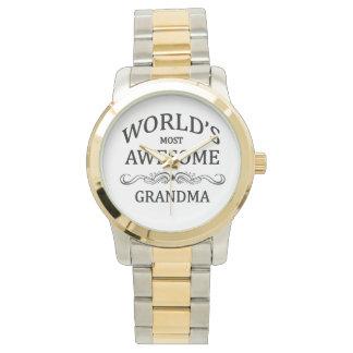 La grand-maman la plus impressionnante du monde montres cadran