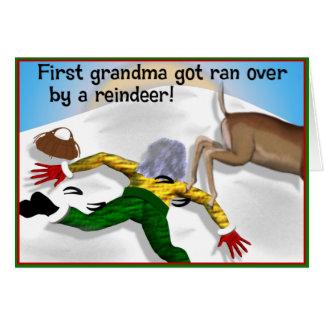 La grand-maman obtenue a couru plus de par une cartes