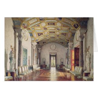 La grande agate Hall dans le palais de Catherine Carte De Vœux