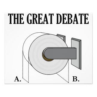 La grande discussion de salle de bains de papier h tract