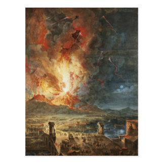 La grande éruption du mont Vésuve Carte Postale
