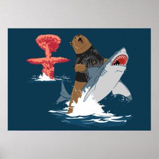 La grande évasion - cavalerie de requin d'ours affiche