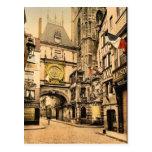 La grande horloge, cru Photochrom de Rouen, France Carte Postale