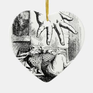 La grande main d'Alice Ornement Cœur En Céramique