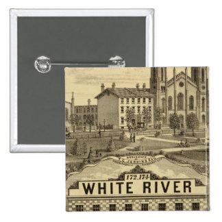 La grande maison de farine et d'épicerie badge carré 5 cm