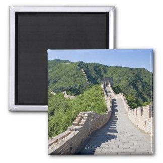 La Grande Muraille de la Chine dans Pékin, Chine Magnet Carré