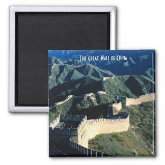 La Grande Muraille de la Chine Magnet Carré