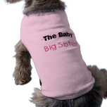 La grande soeur de bébé manteaux pour animaux domestiques