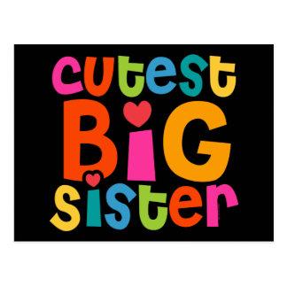 La grande soeur la plus mignonne carte postale