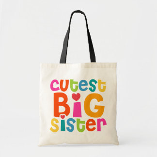 La grande soeur la plus mignonne sacs fourre-tout