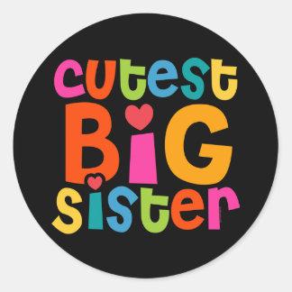 La grande soeur la plus mignonne sticker rond