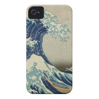 La grande vague outre de Kanagawa Coque iPhone 4 Case-Mate
