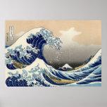 La grande vague outre de Kanagawa, Hokusai Posters