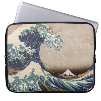 La grande vague outre de Kanagawa Housse Pour Ordinateur Portable
