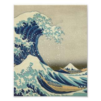 La grande vague outre de Kanagawa Impression Photo