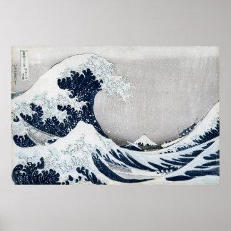 La grande vague outre de Kanagawa Posters