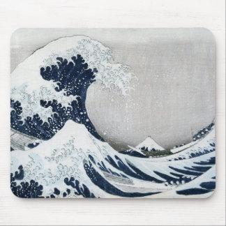 La grande vague outre de Kanagawa Tapis De Souris