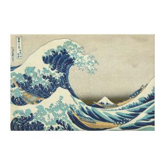 La grande vague outre de Kanagawa Toiles