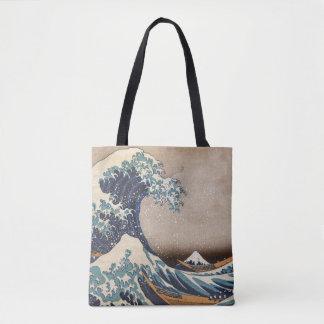 La grande vague outre de Kanagawa Tote Bag