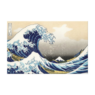 La grande vague outre de la copie de toile de toiles