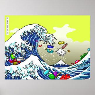 La grande vague poster