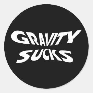 La gravité suce - l'humour drôle de physique sticker rond